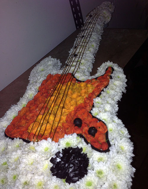 Electric Guitar in Flowers