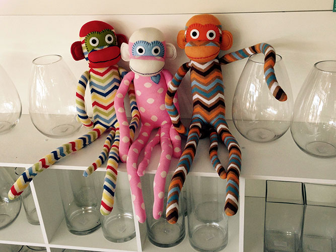Large Sock Monkeys