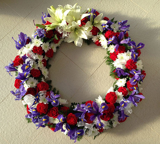 Large Mixed Floral Wreath