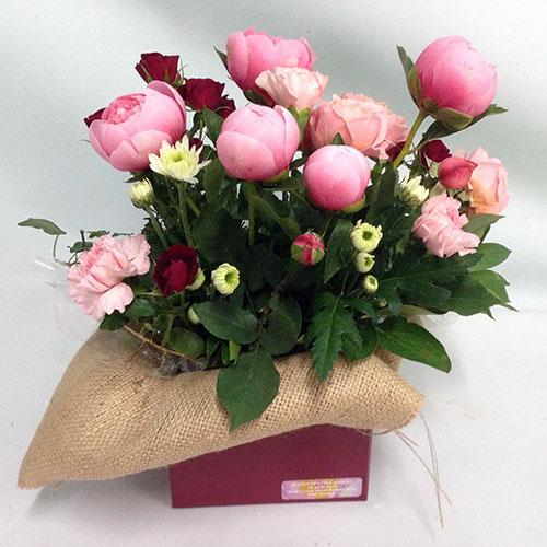 Box Floral Arrangement