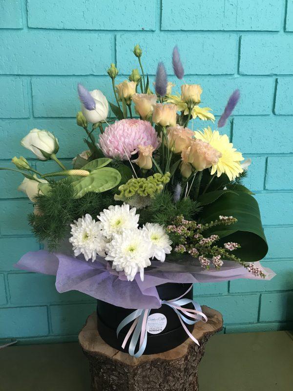 Pastel Flower Hatbox